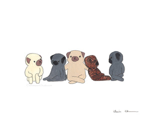Friends - Pug Art Print