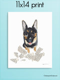 Mistakes Happen -  German Shepherd Art Print