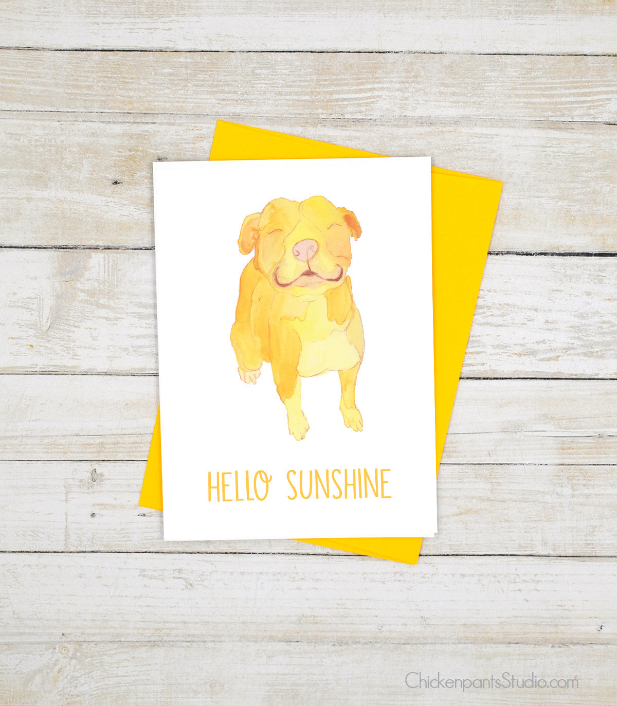 Hello Sunshine - Pit Bull Greeting Card