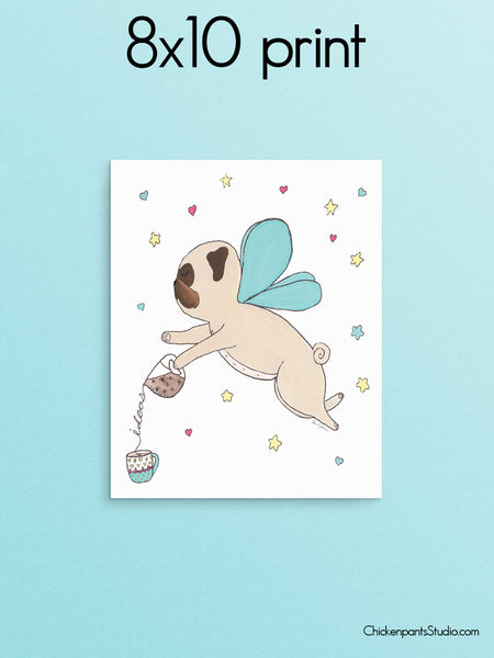 Where Ideas Come From -  Pug Art Print