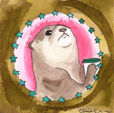 Cranky Sea Otter Original Painting