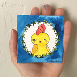 Original Rooster Mini Painting