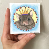 Mouse Orignal Mini Pastel Painting