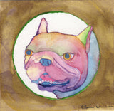 Original French Bulldog Rainbow Painting