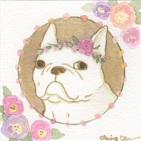 Original French Bulldog Painting