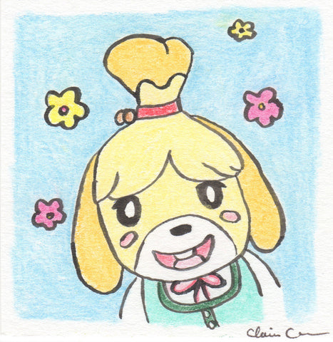 Isabelle - Original Dog Art