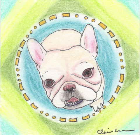 Original French Bulldog Mini Painting