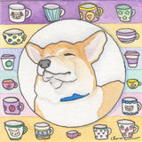 "Original ""But First, Corgi"" Painting"
