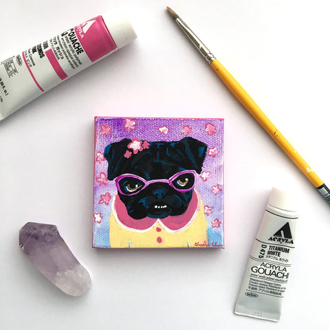Mavis - Original Pug Painting