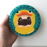 Ducky Plots Revenge - Original Pug Painting