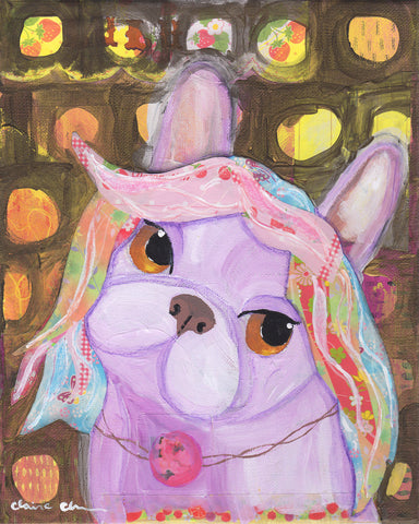 Lulu French Bulldog Art Print