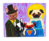 Family History Of Melodrama - Original Dog Painting