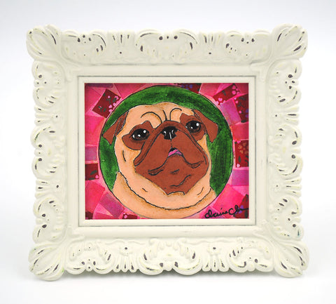 Looking Up To You - Framed Original Painting