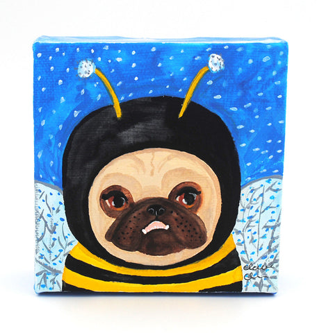 Bee Pug - Original Painting