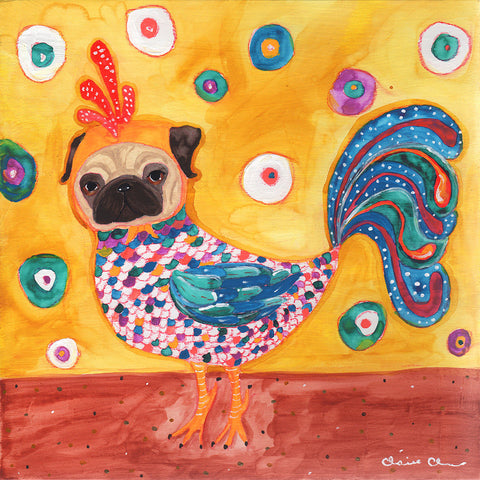 Pugchicken - Original Painting