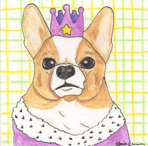 Pembroke Welsh Corgi Original Painting