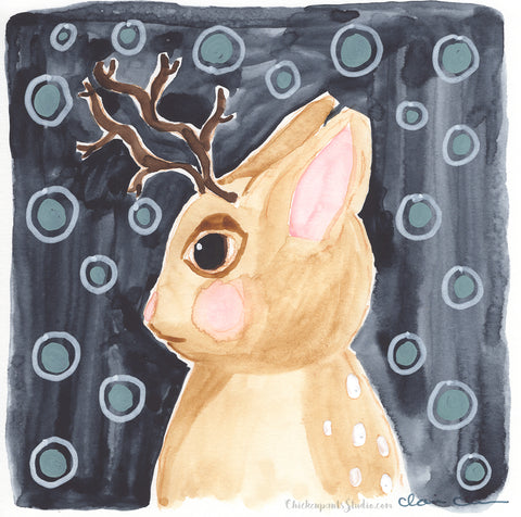 Jackalope -  Original Painting