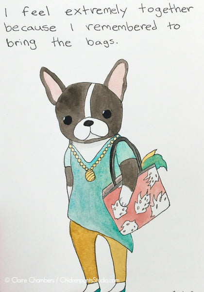 Josephine No. 7 - Remembering to Bring the Bags -  Original Frenchton Painting