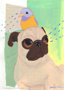 Looking Out -  Original Pug Painting