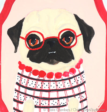 Miss Margot - Original Pug Painting