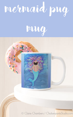 Merpug - Mermaid Pug Mug
