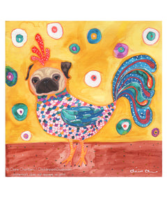Pug Chicken Art Print