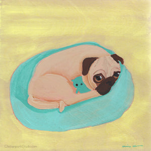 Sulking -  Original Pug Painting