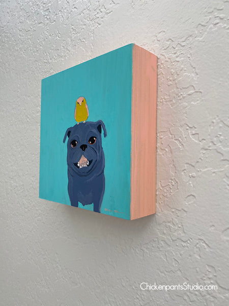 Sunshine Club - Original Pug Painting