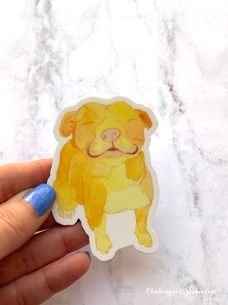 Sunshine Pitbull Vinyl Sticker