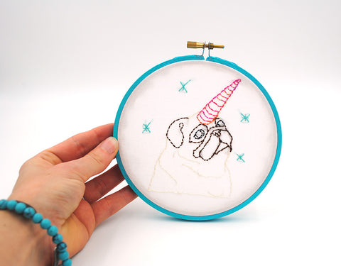 Unipug - Original Pug Art Embroidery