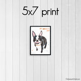 Wasn't Me - Boston Terrier Art Print
