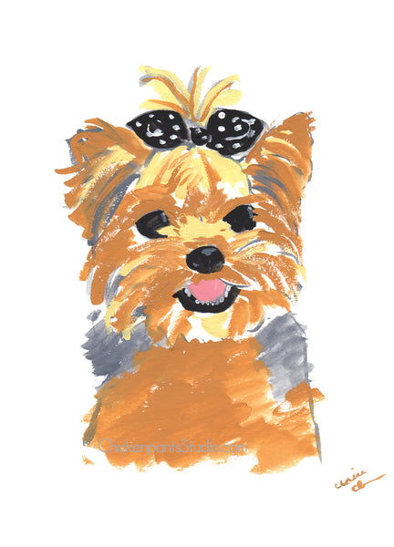 Yorkie - Yorkshire Terrier Greeting Card