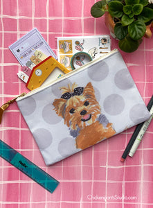 Yorkie Terrier Zipper Pouch