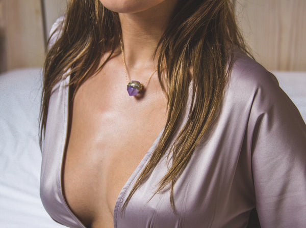 Ella Petite Amethyst Necklace - Divine Schematic