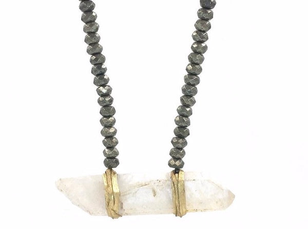Davina Necklace Pyrite - Divine Schematic