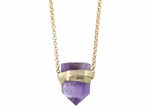 Ella Necklace Amethyst - Divine Schematic