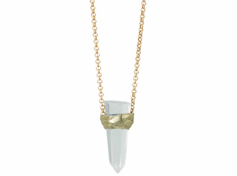 Ella Necklace Clear Quartz - Divine Schematic