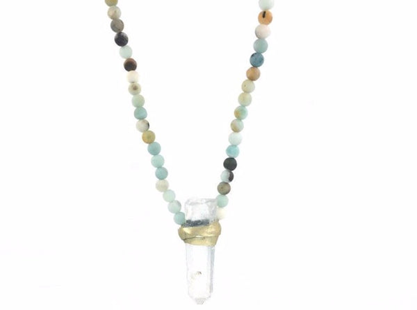 Elena Necklace Amazonite - Divine Schematic