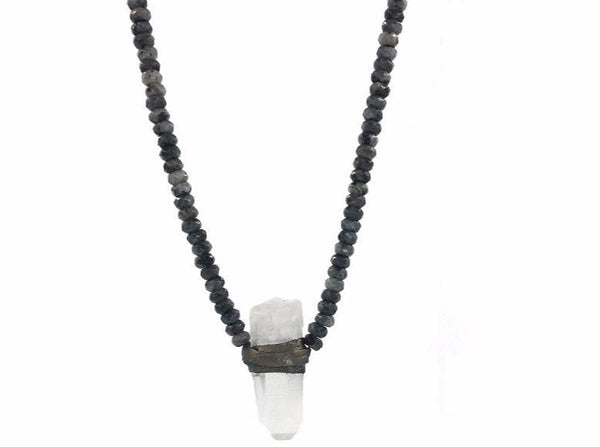 Elena Necklace Black Labradorite - Divine Schematic