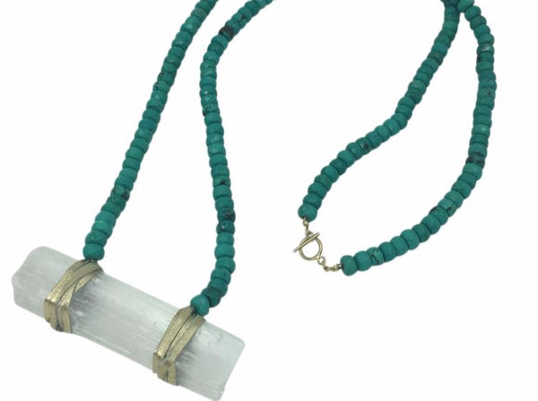 Selena Necklace Turquoise - Divine Schematic