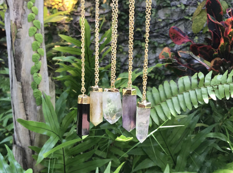 Crystal Pendulum Necklace - Divine Schematic