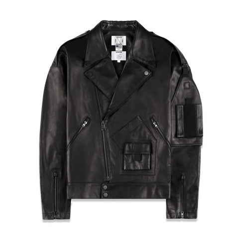 LEATHER PERFECTO JACKET IN BLACK