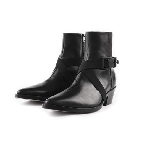 STRAPPED VAQUERO BOOT IN BLACK