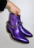 SPIKE CHAIN VAQUERO BOOT IN VIOLET