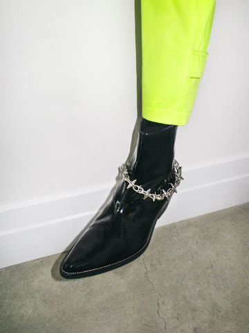 SPIKE CHAIN VAQUERO BOOT IN BLACK