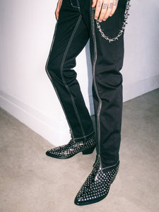 STUDDED VAQUERO BOOT IN BLACK