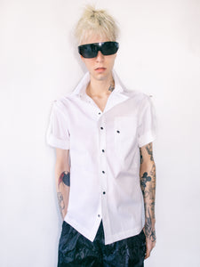 SHORT SLEEVE UNIFORM SHIRT IN WHITE