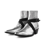 STRAPPED VAQUERO BOOT IN SILVER