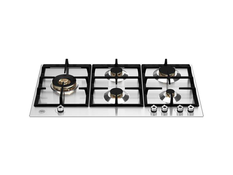 Bertazzoni P905LPROX 90cm BUILT-IN GAS HOB with lateral dual wok