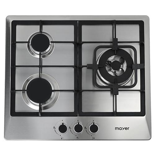MAYER MMSS633 60 CM 3 BURNER STAINLESS STEEL GAS HOB